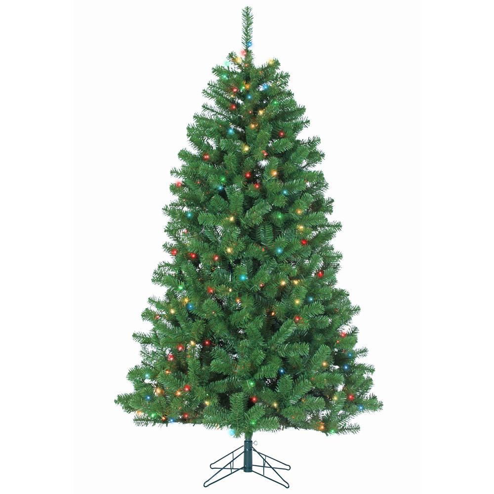 7 ft Pre-Lit Montana Pine Artificial Christmas Tree with ...
