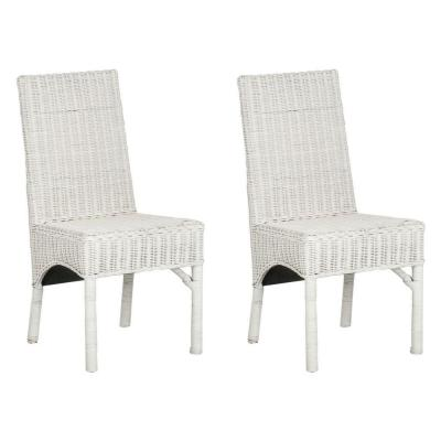 Sommerset White Rattan Side Chair