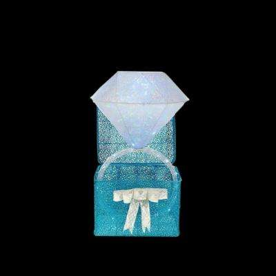 48 in. LED Lighted Twinkling Diamond Ring in Gift Box