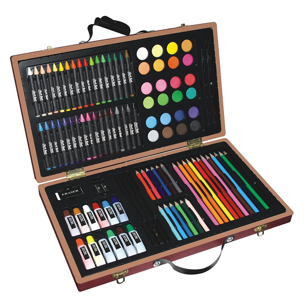 Art Set with Wooden Case (101-Piece)