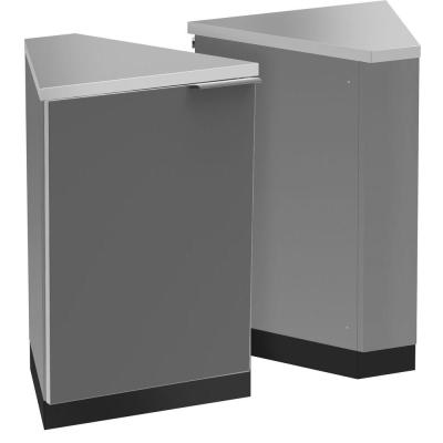 Slate Gray 45 Degree Corner 24.13 in. W x 36.5 in. H x 22.25 in. D Outdoor Kitchen Cabinets (2-Pack)