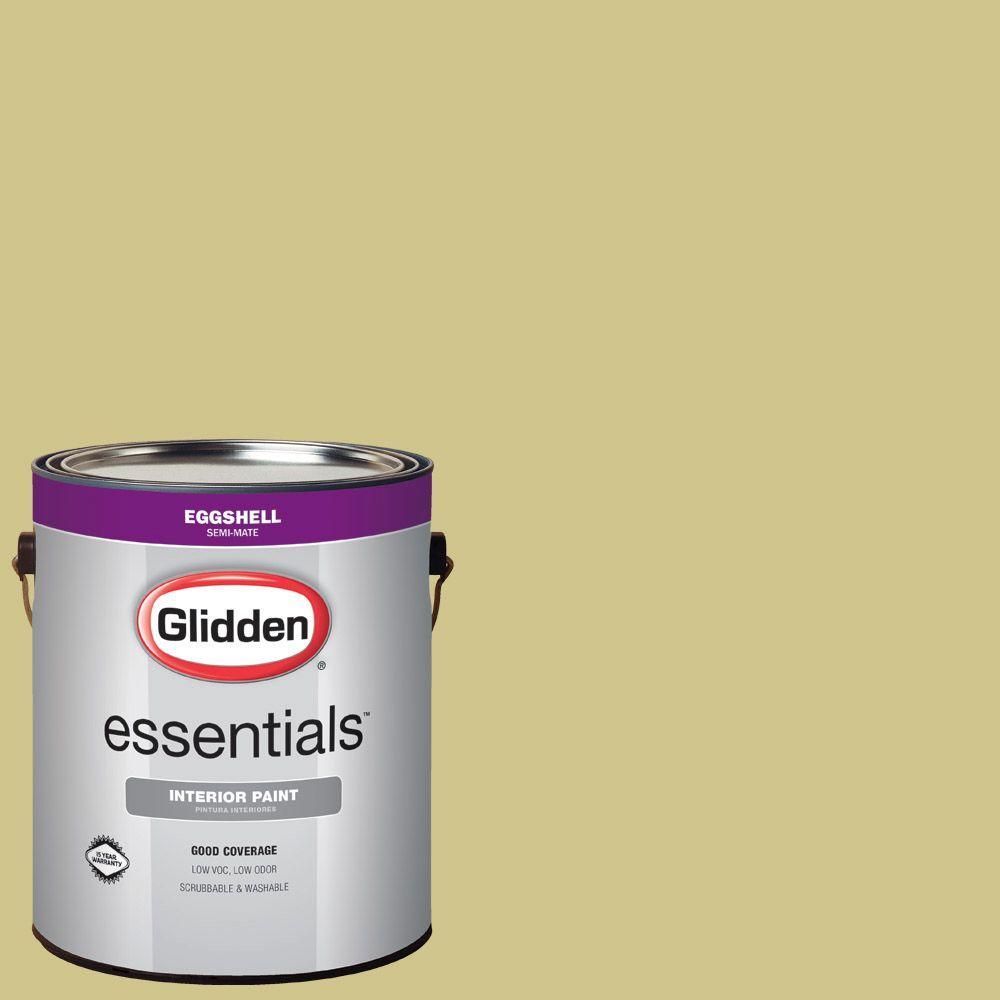 glidden essentials 1 gal hdgg07 soothing green tea eggshell