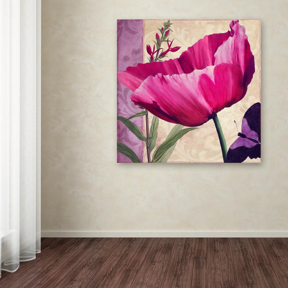 "18 in. x 18 in. ""Pink Poppy I"" by Color Bakery"