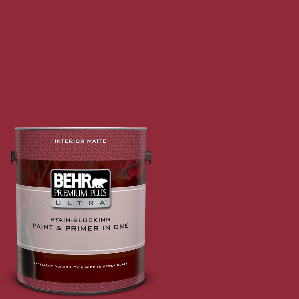 4144c42c2abb BEHR Premium Plus Ultra 1 gal.  UL100-6 Red Velvet Matte Interior Paint