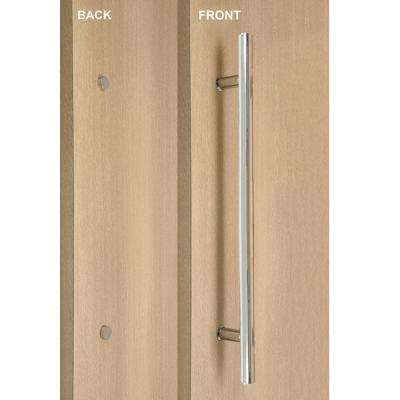Ladder Style 16 in. x 1 in. Single-Sided Polished Stainless Steel Door Pull Handle with Decorative Fixing