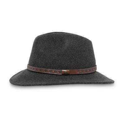 Unisex Large Heathered Dark Gray Rambler Felt Hat