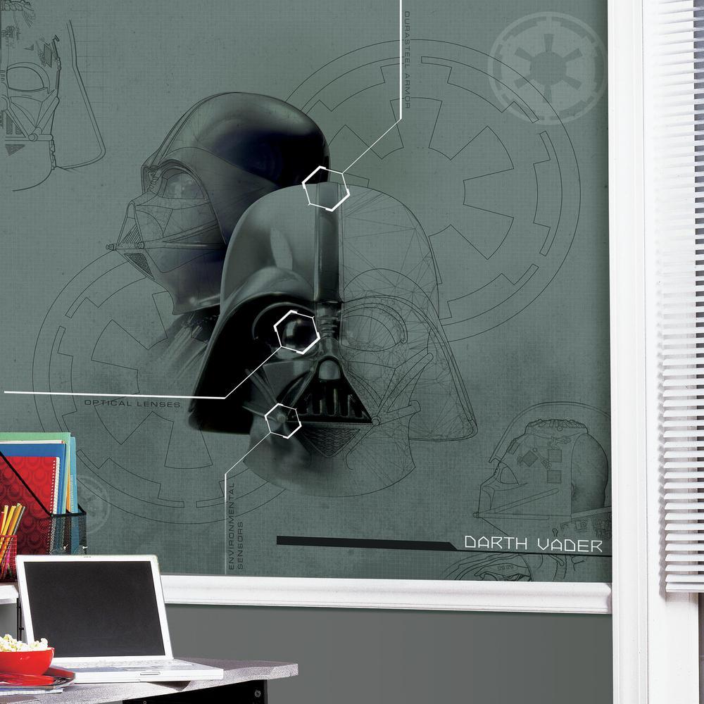 RoomMates 72 in. x 72 in. Star Wars Darth Vadar Prepasted Mural 4-Panel Prepasted Mural, Multi