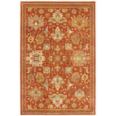 Grayson Red 4 ft. x 6 ft. Area Rug