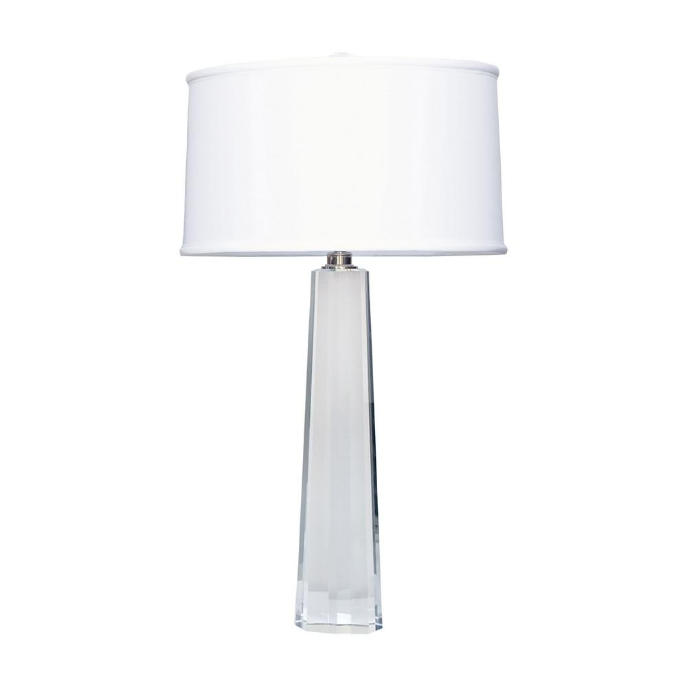 Titan lighting 32 in clear crystal faceted column table lamp tn clear crystal faceted column table lamp aloadofball Gallery
