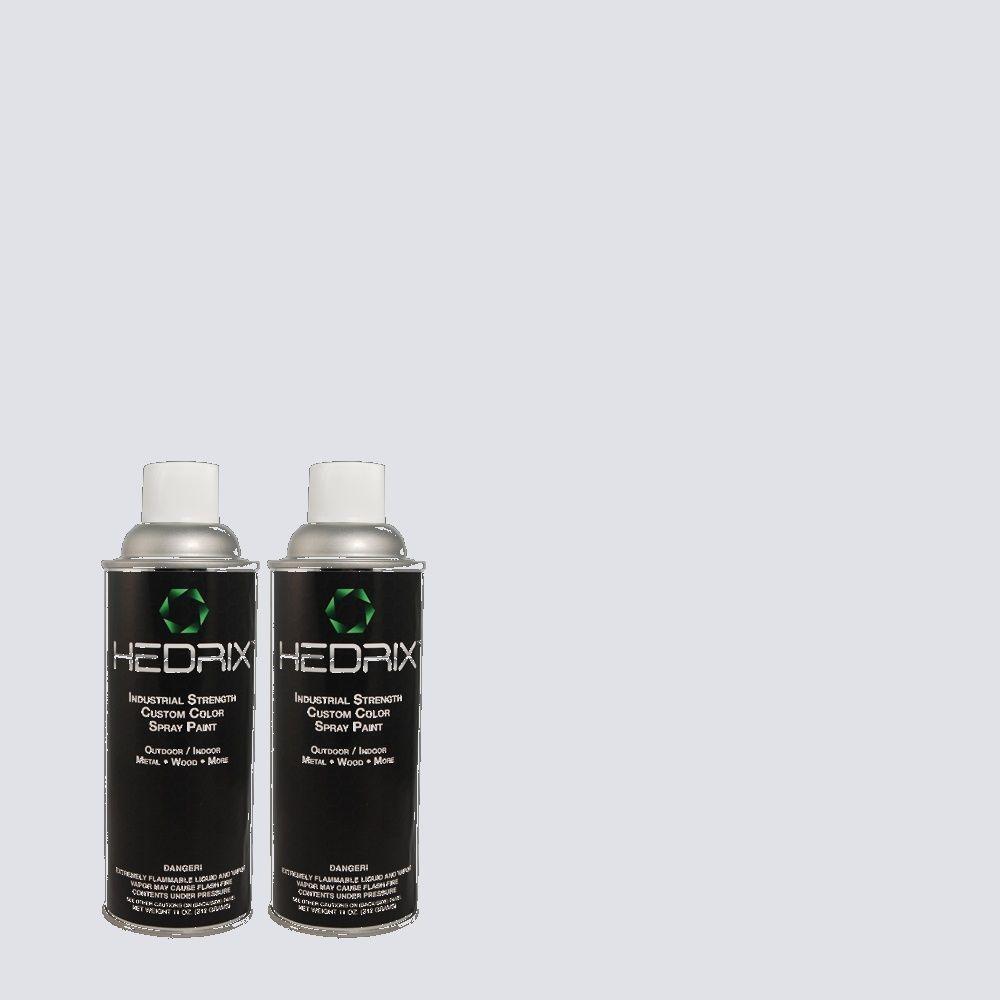 Hedrix 11 oz. Match of 620C-1 Winter Ice Flat Custom Spray Paint (2-Pack)