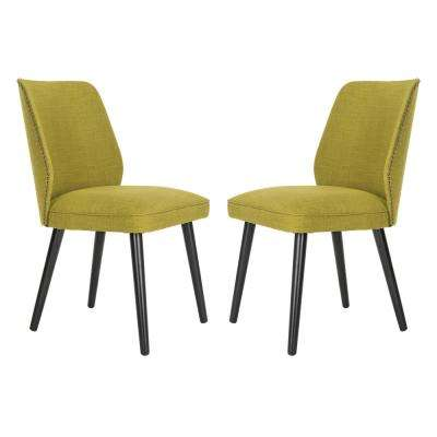 Ethel Sweet Pea Green Polyester Dining Chair (Set of 2)