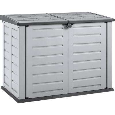 Rimax 5 ft. 1.3 in. x 2 ft. 11.6 in. x 3 ft. Grey and Black Medium Garden Shed
