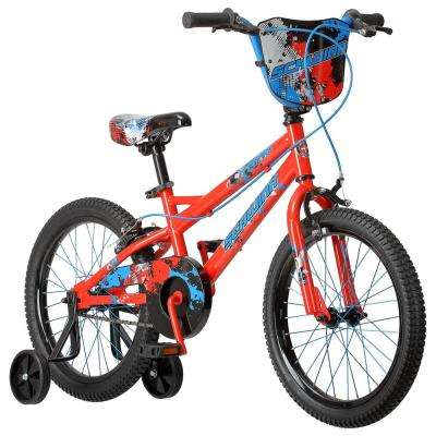 18 in. Boy's Bike for Ages 4-Years to 7-Years in Red