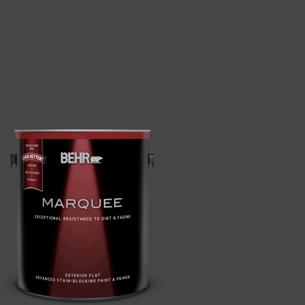 Behr Marquee 1 Gal Ppu26 23 Black Boudoir Matte Exterior Paint 445301 The Home Depot