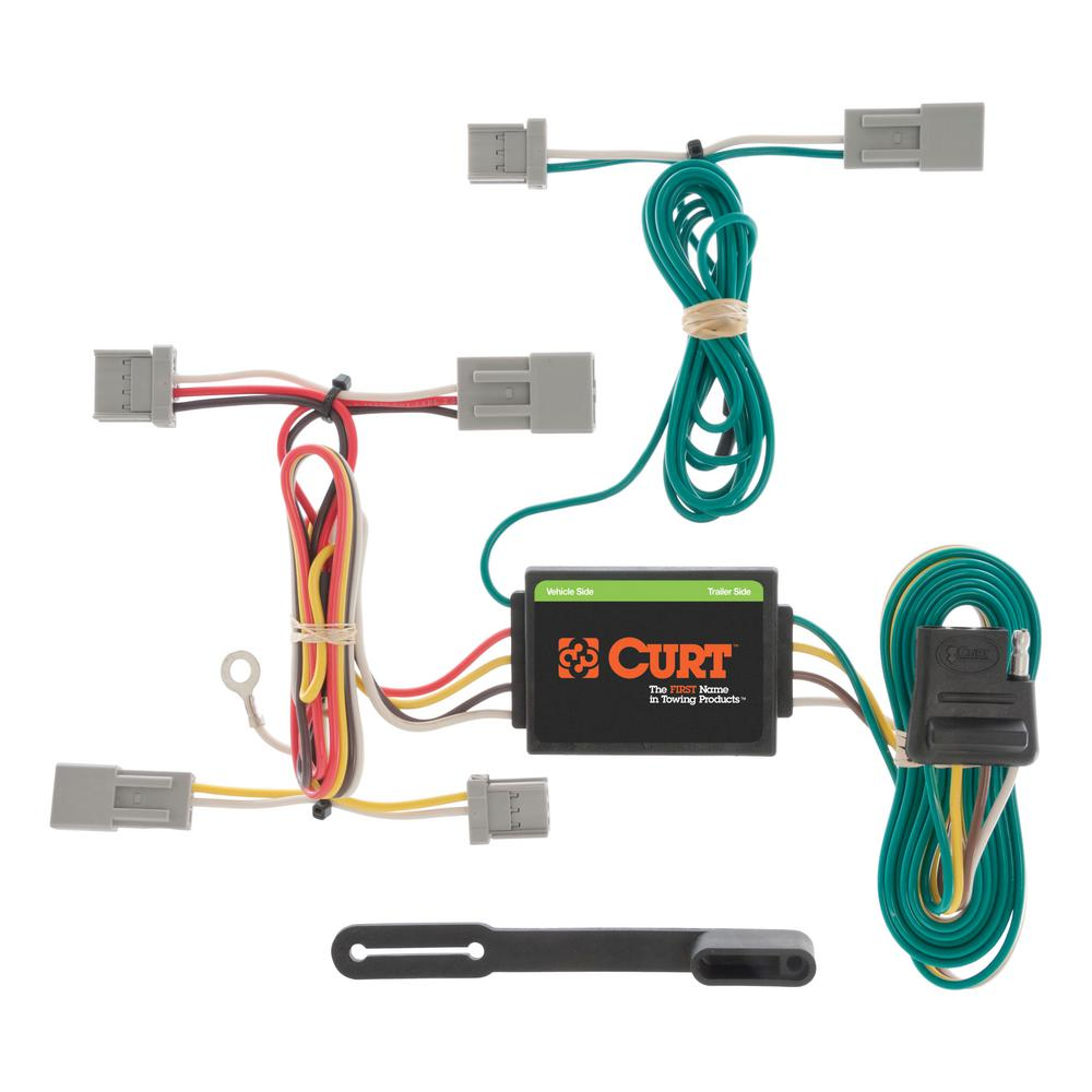 CURT Custom Vehicle-Trailer Wiring Harness, 4-Way Flat, Select Civic, Fit,  Accord, Mazda 3, CX-5, Galant, Quick T-Connector-56011 - The Home DepotThe Home Depot
