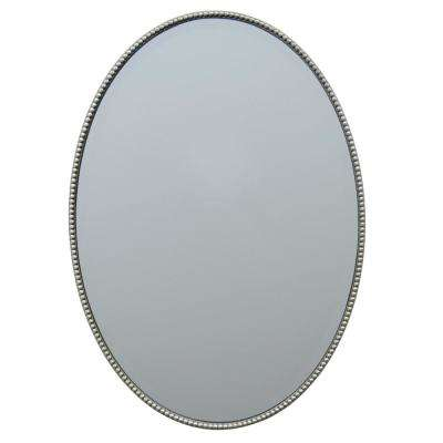 27 in. Three Hands Mirror With Champagne Wood Frame