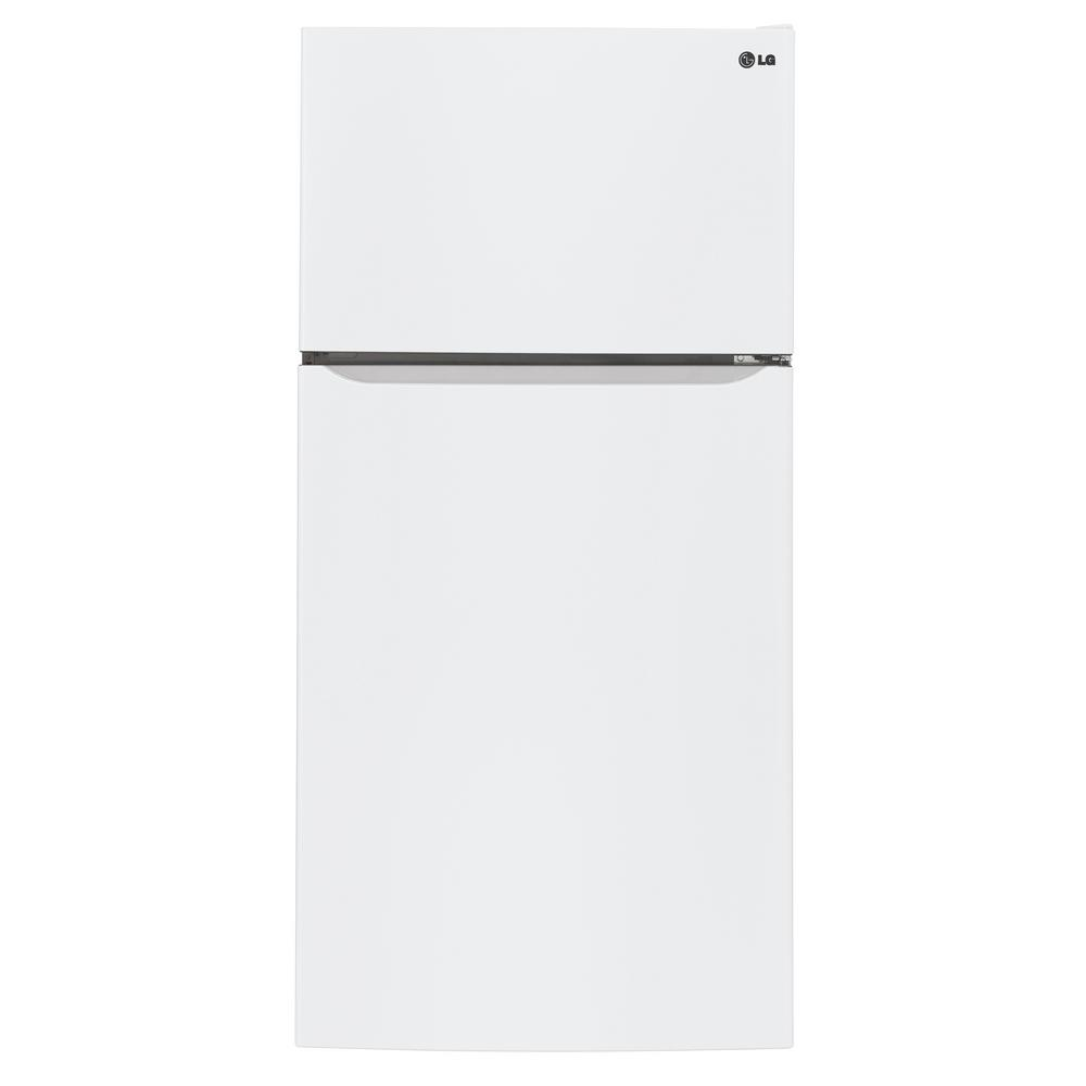 LG Electronics 30 in. W 20 cu. ft. Top Freezer Refrigerator in Smooth White