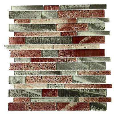 Upscale Designs 12 in. x 12 in. x 4 mm Glass Mesh-Mounted Mosaic Tile