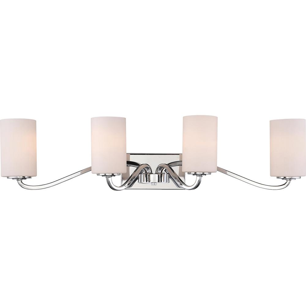 Filament Design 4 Light Polished Nickel Bath Light
