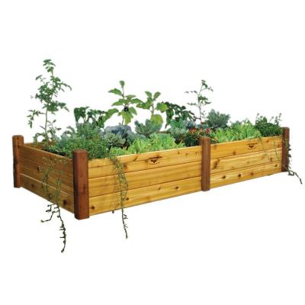 48 in. x 95 in. x 19 in. Safe Finish Raised Garden Bed