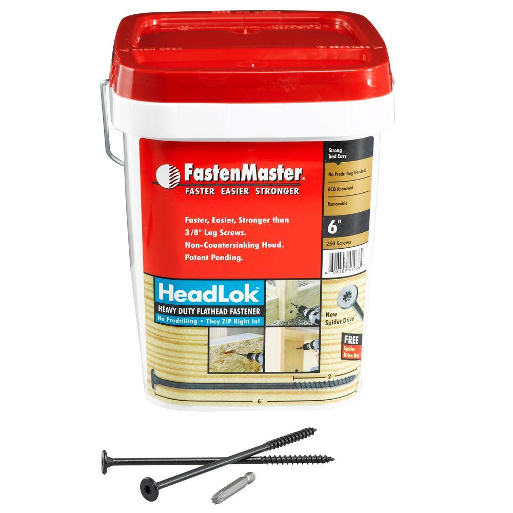 FastenMaster HeadLok 6 in. Heavy Duty Fastener - 250 Pack