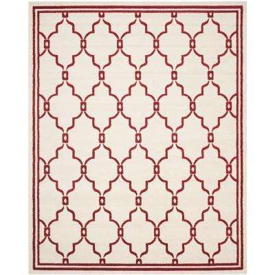 Amherst Ivory/Red 8 ft. x 10 ft. Indoor/Outdoor Area Rug