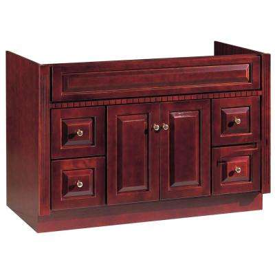 48 in. W x 21 in. D Vanity Cabinet Only in Hand Rubbed Cherry Finish