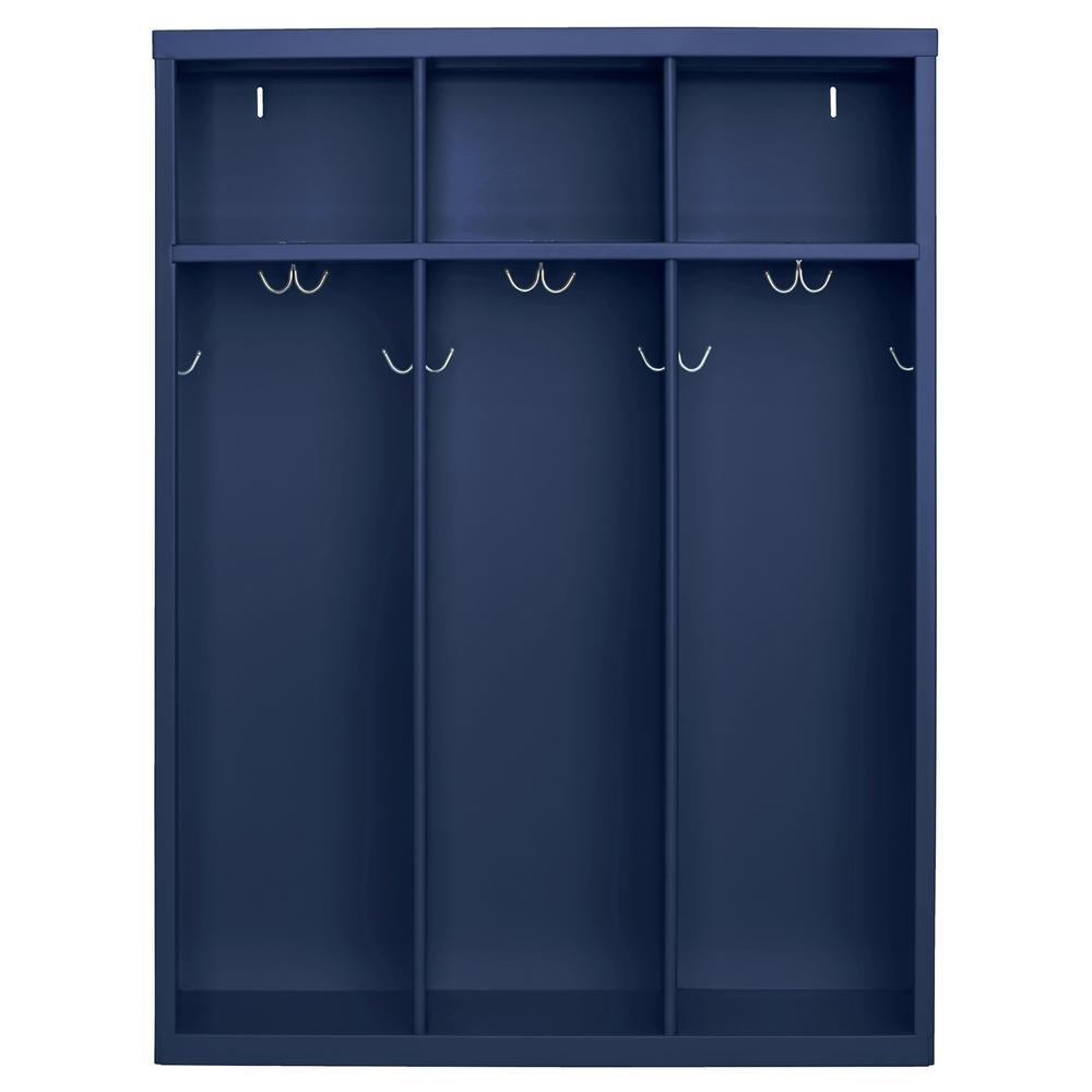 1-Shelf Steel Open Front Kids Locker in Navy Blue