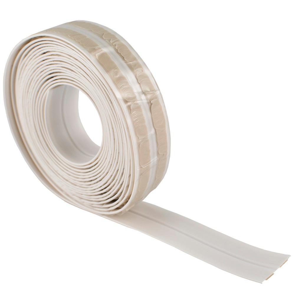 Tub and Floor Caulk Strip 1-1/4 in. x 5 ft. White