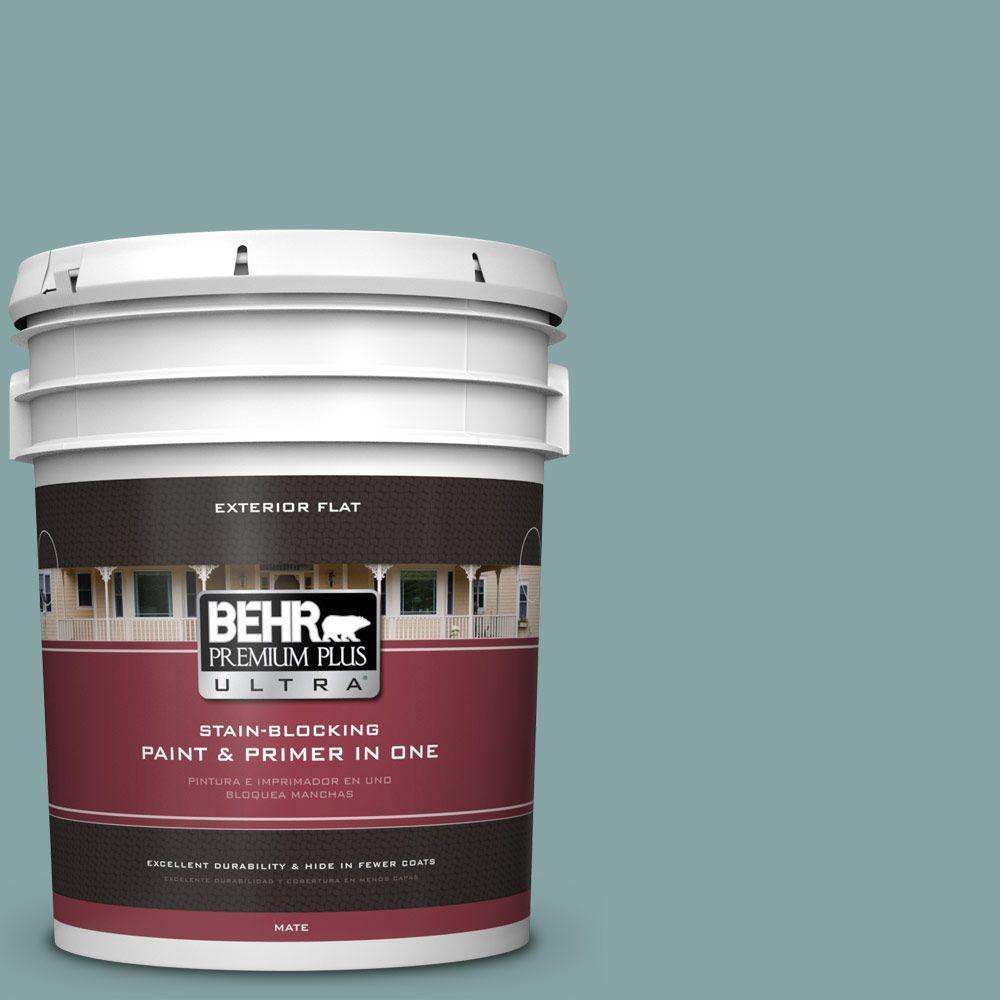 BEHR Premium Plus Ultra 5-gal. #PPU13-8 Venus Teal Flat Exterior Paint