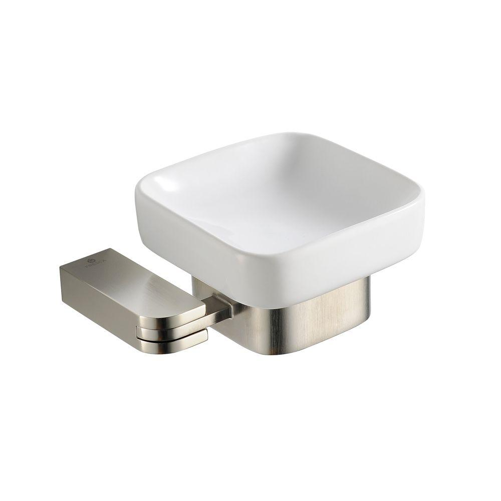 Fresca Solido Wall-Mounted Soap Dish in Brushed Nickel
