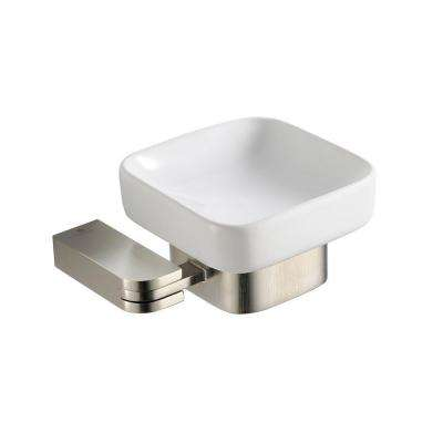 Solido Wall-Mounted Soap Dish in Brushed Nickel