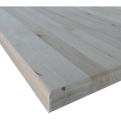 Allwood 1-1/2 in. x 4 ft. x 60 in. Birch Project Panel/Table Top Routed Edges One Face