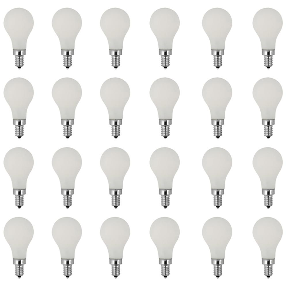 60W Equivalent Soft White (2700K) A15 Candelabra Dimmable Filament LED Frosted