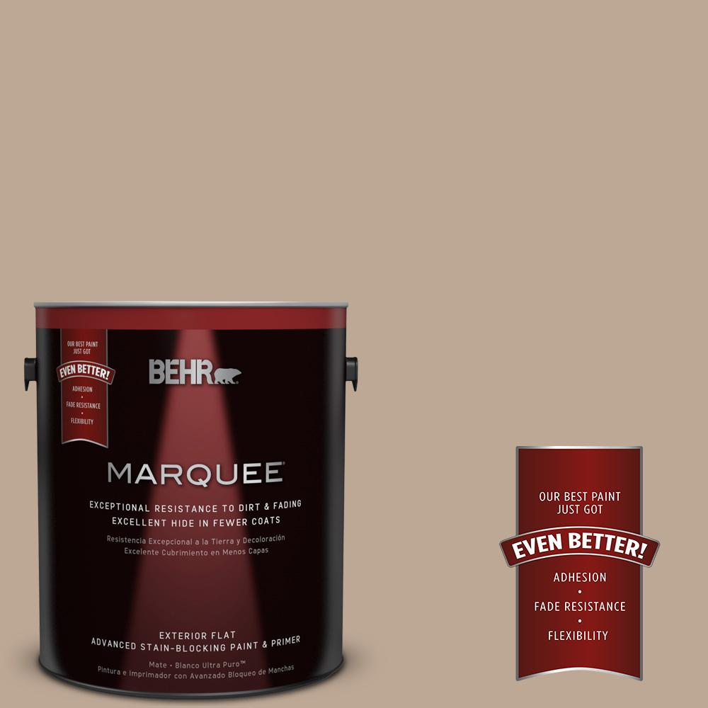 1-gal. #700D-4 Brown Teepee Flat Exterior Paint