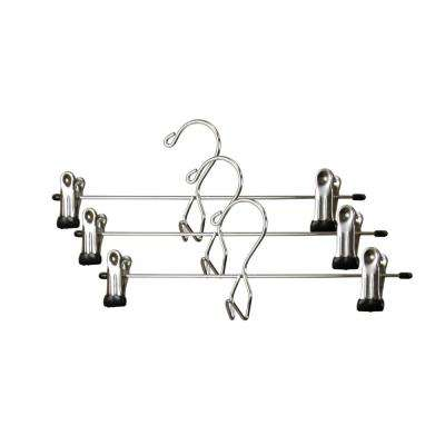 Chrome Plated Steel Skirt Hanger (3-Pack)
