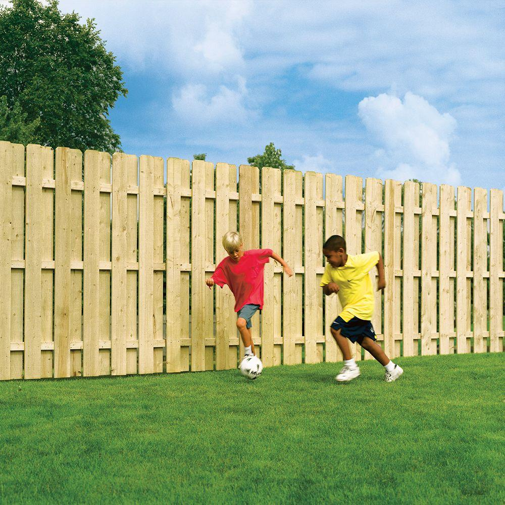 6 Ft H X 8 W Pressure Treated Pine Shadowbox Fence