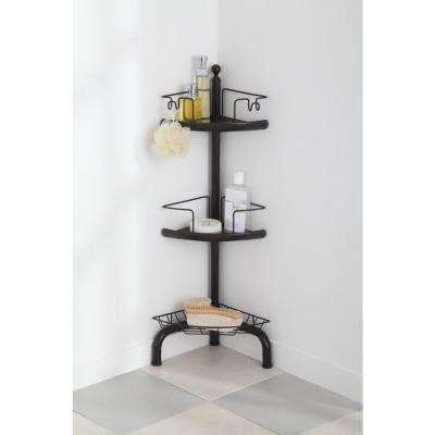 3 Tier Adjustable Corner Shower Caddy, Oil-Rubbed Bronze Finish