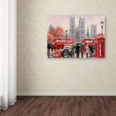 "18 in. x 24 in. ""Westminster Abbey"" by The Macneil Studio Printed Canvas Wall Art"