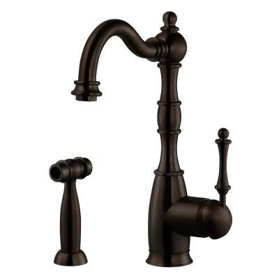 Regal Traditional Single-Handle Standard Kitchen Faucet with Sidespray and CeraDox Technology in Oil Rubbed Bronze