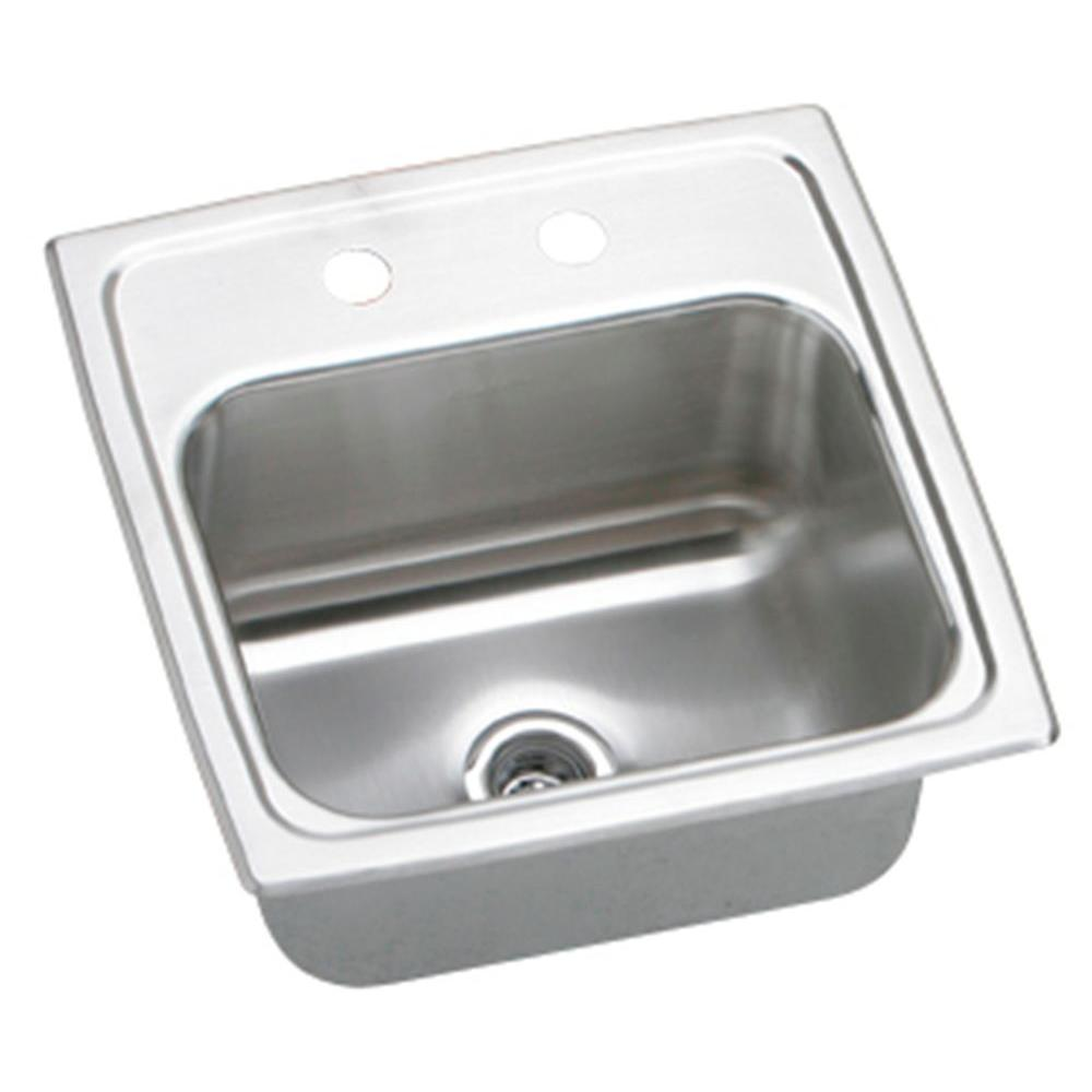 Elkay Lustertone Drop In Stainless Steel 15 In. 3 Hole Bar Sink