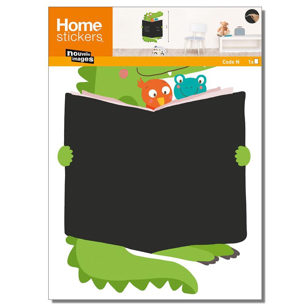 Multicolor Crocodile Book Chalkboard Home Sticker