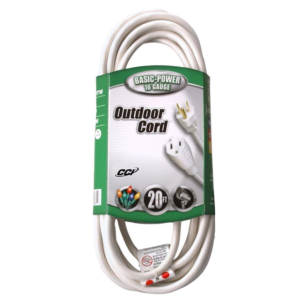 Southwire 20 ft. 16/3 SJTW Outdoor Ligtht-Duty Extension Cord ...