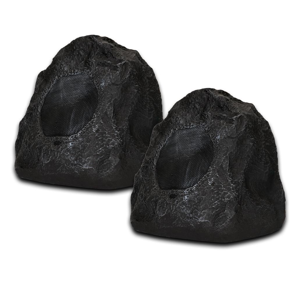 Granite Rock Speaker Pair Outdoor Weatherproof Speakers