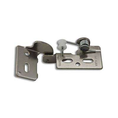 Chrome #5 1/4 in. Overlay Non-Wrap Self-Closing Hinge