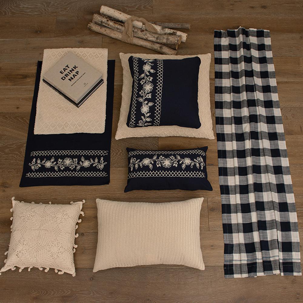 Crochet Envy Natural Linea Decorative Pillow