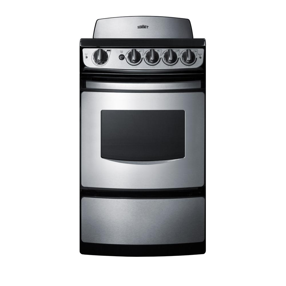 20 in. 2.4 cu. ft. Electric Range in Stainless Steel
