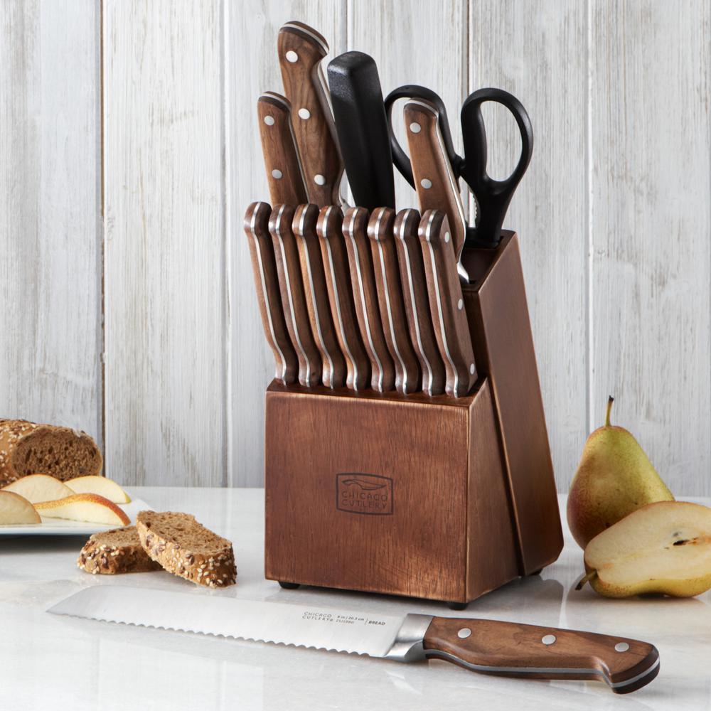 Precision Cut 15-Piece Knife Block Set