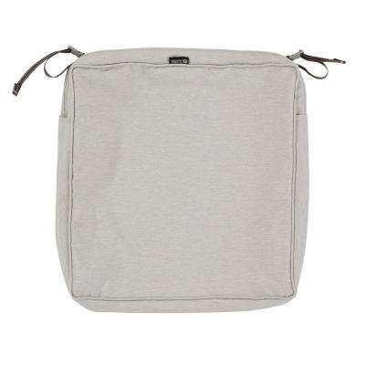 Montlake Fade Safe Heather Grey 17 in. Square Outdoor Seat Cushion Cover