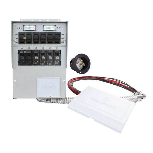 30 Amp 6-Circuit Manual Transfer Switch